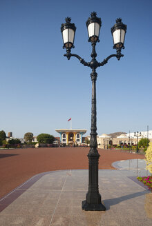 Street lantern at Al Alam Palace, government district, Muscat, Oman - WWF05082