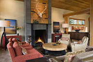 Fireplace in modern living room - MINF11796
