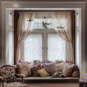 Window seat and curtains in nook - MINF11916