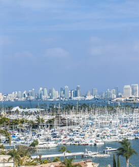 City skyline overlooking harbor, San Diego, California, United States - MINF11979