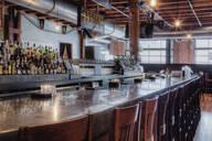 Empty stools at bar - MINF12272