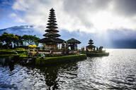 Pagoda floating on water, Baturiti, Bali, Indonesia - MINF12508
