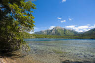 Beautiful mountain lake in the Los Alerces National Park, Chubut, Argentina, South America - RUNF02728