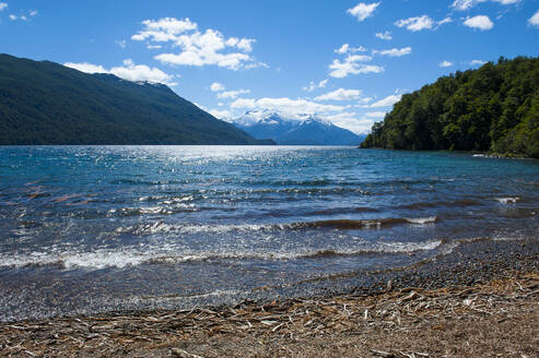 Beautiful mountain lake in the Los Alerces National Park, Chubut, Argentina, South America - RUNF02731