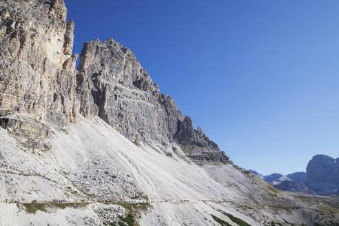 Tre Cime di Lavaredo, Nature Park Tre Cime, Unesco World Heritage Natural Site, Sexten Dolomites, Italy - GWF06106