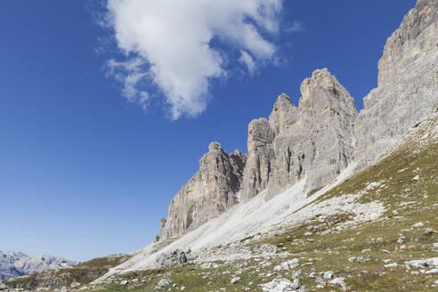 Tre Cime di Lavaredo, Nature Park Tre Cime, Unesco World Heritage Natural Site, Sexten Dolomites, Italy - GWF06109