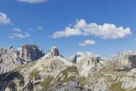 Monte Rudo, Torre dei Scarperi, Hochebenkofel, Mitterebenkofel, Tre Cime di Lavaredo Area, Nature Park Tre Cime, Unesco World Heritage Natural Site, Sexten Dolomites, Italy - GWF06118
