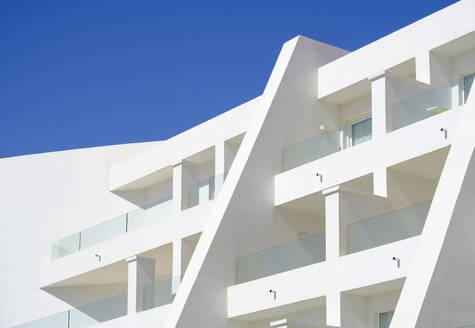 Balconies of a hotel, Lanzarote, Spain - SIEF08704