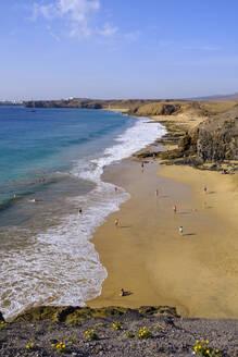 Playa de la Cera, Papagayo-Str�nde, Playas de Papagayo, bei Playa Blanca, Lanzarote, Kanarische Inseln, Spanien - SIEF08707