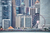 View to Central District with big wheel, Hong Kong, China - MRF02105