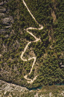 Hiking trail near Cuenca, Castile-La Mancha, Spain - RSGF00235