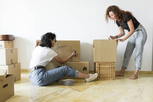Two friends moving into new home - JPTF00212