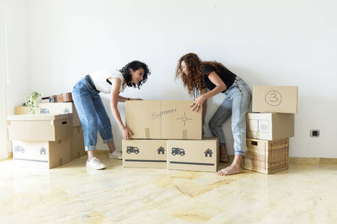 Two friends moving into new home - JPTF00215