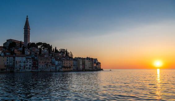 Sunset over sea, Rovinj, Dalmatia coast, Croatia - CUF51743