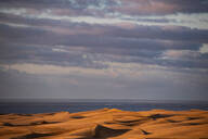 Scenic view of Maspalomas sand dunes and dramatic sky, Gran Canary, canary Islands, Spain - CUF51785