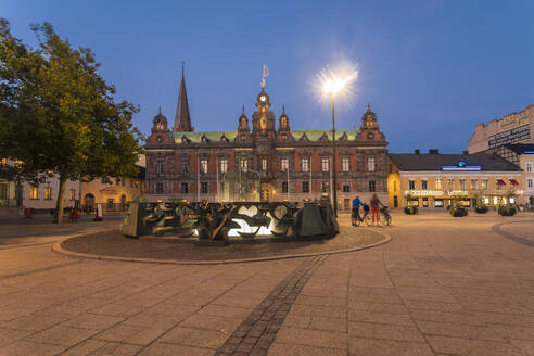 Stortorget square with the city town hall radhus or at night - TAMF01664