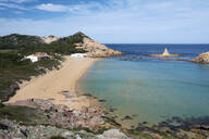 Scenic view of Balearic Islands against sky during sunny day - IGGF01193
