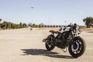 Parked motorbike - LJF00312