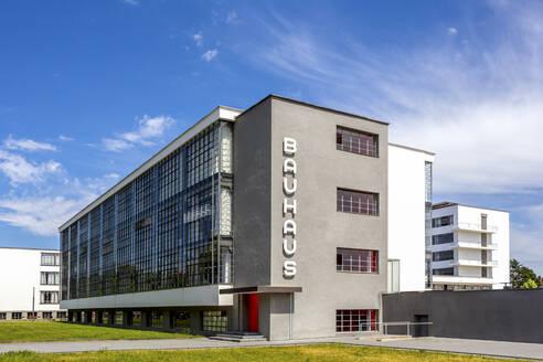 Germany, Dessau, Exterior of Bauhaus building - PU01674