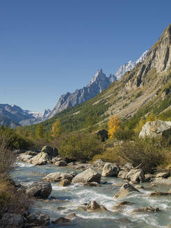 River and mountains in remote landscape - BLEF09404