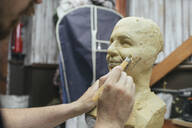 Sculptor working on a bust - VPIF01302