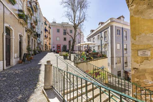 Portugal, Lissabon, Innenstadt, Altstadt, Stadtviertel Mouraria, Platz Largo dos Trigueiros, Restaurant, Cafe - WDF05291