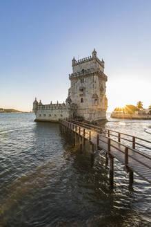 Portugal, Lissabon, Belém, Fluss Tejo, Torre de Belém, Wehrturm - WDF05303