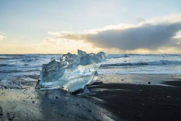 Iceland, South Iceland, Fjallsarlon glacial lake at sunset - TAMF01738