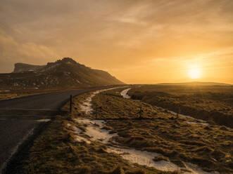 Iceland,Vik, Landscape at sunset - TAMF01759