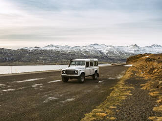 Iceland, 4x4 car by fjords - TAMF01762