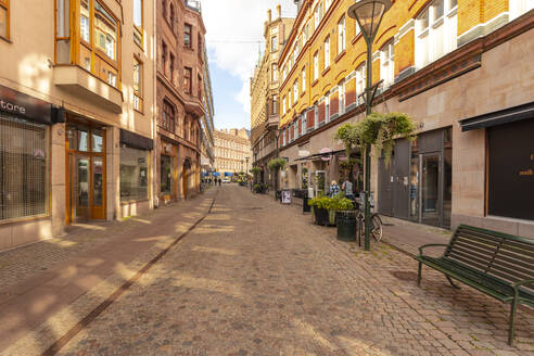Sweden, Malmo, Historic red brick buildings of old town - TAMF01767