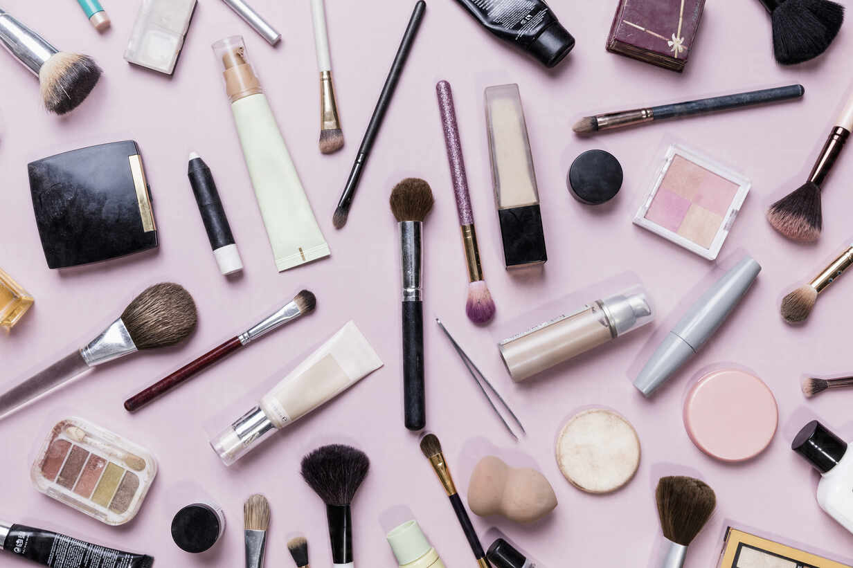 Above Makeup And Brushes