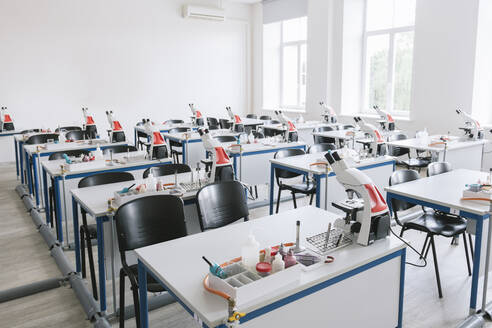 Lithuania, Vilnius, View of science lab classroom - AHSF00647