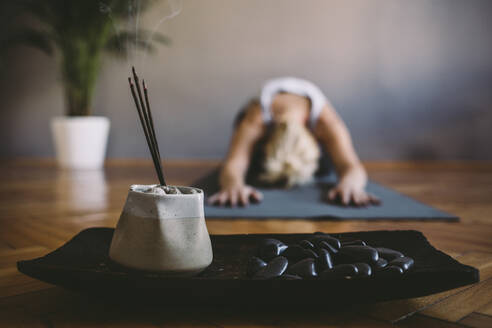 Incense burning in yoga studio - BLEF11222