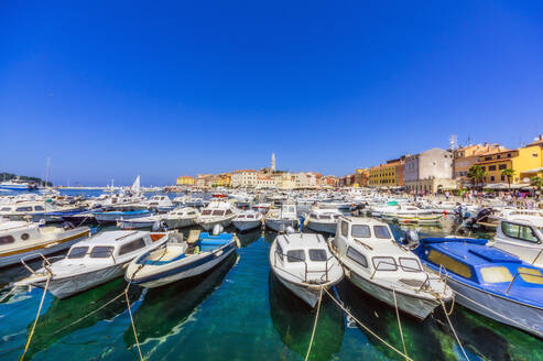 Harbour with boats at Rovinj, Istria, Croatia - THAF02559