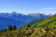 View over Zillertal Alps, Ziller valley, Tyrol, Austria - SIEF08789