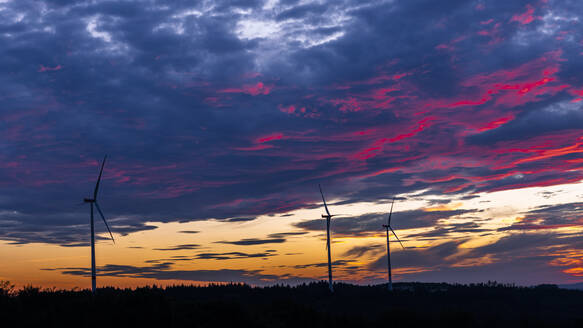Wind turbines in Baden-Wurttemberg, Germany - STSF02135