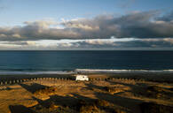 Aerial view of camping van on viewing point in Fuerteventura - SIPF02042