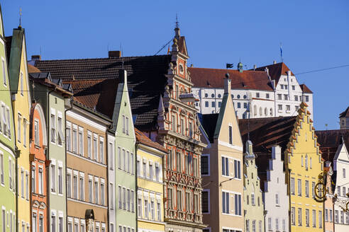 Houses at the old town of Landshut, Lower Bavaria, Germany - SIEF08823