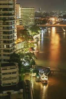 High angle view of Bangkok waterfront, Bangkok, Thailand - BLEF12005