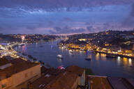 View over Porto and river Douro at dusk, Portugal - FCF01797