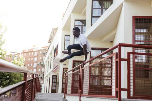 young man with street style/SPAIN/GRANADA/GRANADA - LJF00537