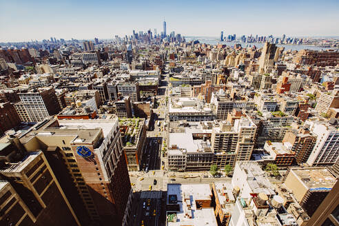 Aerial view of New York cityscape, New York, United States - BLEF12878