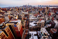 Aerial view of New York cityscape, New York, United States - BLEF12908