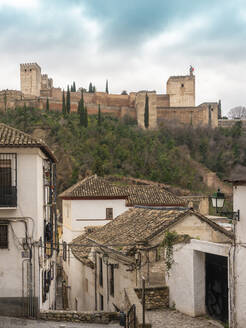 View of Alhambra from Albayzin, Granada, Spain - TAMF01908