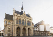 View of town hall against sky in Erfurt, Germany - GWF06193