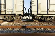 Cargo train on railroad track, Palapye, Botswana - VEGF00440