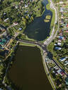Aerial view of Sergiev Posad town, Moscow, Russia - KNTF03019