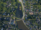 Drone shot of Sergiev Posad town, Moscow, Russia - KNTF03028