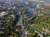 Aerial view of Sergiev Posad town, Moscow, Russia - KNTF03031
